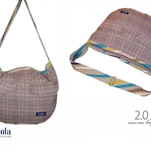 2.0 KOLLEKCIÓ Válltáska / Oldaltáska / Biciklis táska tweed barna-bézs - táska & tok - biciklis & sporttáska - biciklis táska, nyereghuzat - Meska.hu