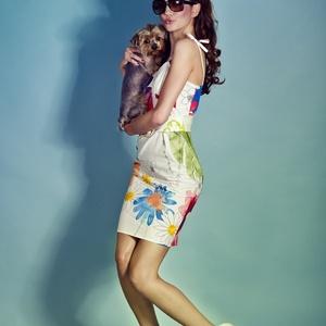 Virágos ruha, miniruha AKCIÓ!! - ruha & divat - női ruha - ruha - Meska.hu