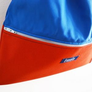 Narancssárga kék vízlepergető hátizsák / tornazsák - ovi- és sulikezdés - tornazsák, gymbag - Meska.hu