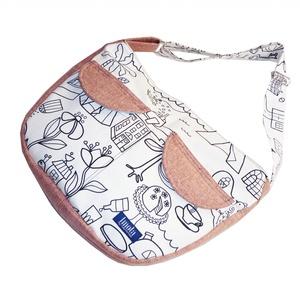2.0 KOLLEKCIÓ Válltáska / Oldaltáska / Biciklis táska fehér-rózsaszín - táska & tok - kézitáska & válltáska - vállon átvethető táska - Meska.hu