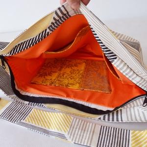 1.1 BASIC KOLLEKCIÓ Válltáska / Oldaltáska / Biciklis táska csíkos - táska & tok - kézitáska & válltáska - vállon átvethető táska - Meska.hu