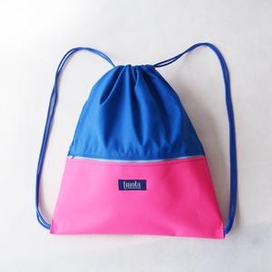 Pink kék vízlepergető hátizsák / tornazsák, Táska, Táska, Divat & Szépség, Hátizsák, Varrás, Pink kék vízlepergető hátizsák vagy tornazsák. Szuper nyári kiegészítő, fesztiválokra vagy nagy sétá..., Meska