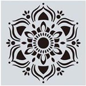 Mandala stencil, mandala sablon 12-es minta, Szerszámok, eszközök, Sablonok, Festett tárgyak, festészet, Decoupage, szalvétatechnika, Mindenmás, Mandala festéséhez, rajzoláshoz.\nAnyaga: hajlékony műanyag\nLemosható, tisztítható, többször felhaszn..., Meska