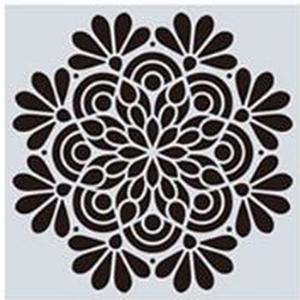 Mandala stencil, mandala sablon 14-es minta, Szerszámok, eszközök, Sablonok, Festett tárgyak, festészet, Decoupage, szalvétatechnika, Mindenmás, Mandala festéséhez, rajzoláshoz.\nAnyaga: hajlékony műanyag\nLemosható, tisztítható, többször felhaszn..., Meska