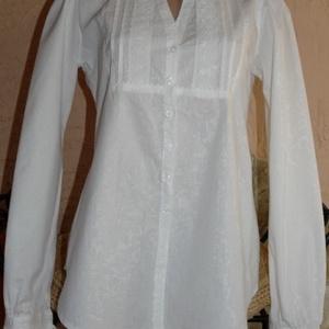 Fehér  vászon csipkés blúz , Ruha & Divat, Női ruha, Blúz, Varrás, Fehér, 100%pamut vászonból készítettem ezt a szép blúzt. Elejét és kézelőjét pamutcsipkével díszítet..., Meska