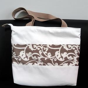 Fehér nyári táska, Táska & Tok, Válltáska, Kézitáska & válltáska, Varrás, Meska