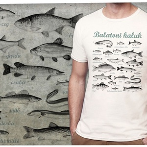 balatoni halak, Póló, Férfi ruha, Ruha & Divat, Mindenmás, A kívánt méretet rendeléskor a megjegyzésbe tudod beírni, minden méret van készleten. A póló 100% pa..., Meska