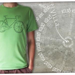 Bicikli kalligráfia, Férfiaknak, Bringás kiegészítők, Táska, Divat & Szépség, Férfi ruha, Ruha, divat, Mindenmás, Divatos mostanság a dolgokat betűkből kirakni, és ha igazán őszinték akarunk lenni, ez az egyetlen g..., Meska