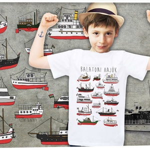 balatoni hajók gyerekeknek, Póló, Babaruha & Gyerekruha, Ruha & Divat, Mindenmás, A póló 100% pamut, méretei:\n\n1-2: SZ: 29cm M: 37cm\n3-4: SZ: 33cm M: 41cm\n5-6: SZ: 36cm M: 46cm\n7-8: ..., Meska