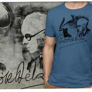 Bartók Béla Férfi pólón, Férfiaknak, Táska, Divat & Szépség, Férfi ruha, Ruha, divat, Urban pólók, Mindenmás, A Bartók-emlékév örömére készítettünk egy Bartók pólót, de aztán elbizonytalanodtunk, hogy nem illik..., Meska