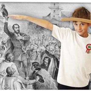 Kokárdás póló gyerekeknek, Kokárda, Ruha, divat, cipő, Gyerekruha, Gyerek (4-10 év), Mindenmás, Ezt a pólót a márciusi hősök előtt tisztelegve készítettük.  A póló 100% pamut, méretei:  1-2: SZ: ..., Meska