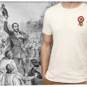 kokárdás póló férfiaknak, Ruha, divat, cipő, Kokárda, Férfi ruha, Fotó, grafika, rajz, illusztráció, Mindenmás, Ezt a grafikát a forradalom hősei előtt tisztelegve készítettük.  Méretet megjegyzésben lehet rende..., Meska