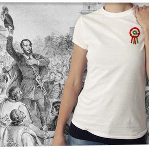 kokárdás póló hölgyeknek, Kokárda, Ruha, divat, cipő, Női ruha, Felsőrész, póló, Fotó, grafika, rajz, illusztráció, Mindenmás, Ezt a grafikát a forradalom hősei előtt tisztelegve készítettük.  Méretet megjegyzésben lehet rende..., Meska
