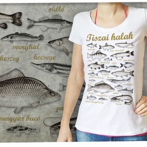 Tiszai halak női Stars pólón - Meska.hu