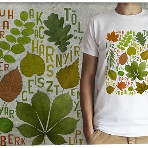 Őszi falevelek, Ruha & Divat, Póló, Férfi ruha, Őszi falevelek férfi pólón  A kívánt pólószínt a legördülő menüből tudod kiválasztani, a grafika csa..., Meska