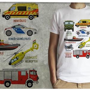 Mentő járművek, Ruha & Divat, Póló, Babaruha & Gyerekruha, Mindenmás, Meska