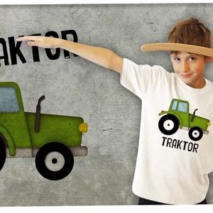 Traktor, Póló, Babaruha & Gyerekruha, Ruha & Divat, Mindenmás, TRAKTOR\n\nÁtlagos unisex szabású gyerekpóló 100% pamut,  144g/m2 anyagvastagság.\n-gyűrűsfonású GILDAN..., Meska