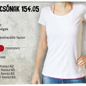 Ehető gombák_Magyarország - női fehér pólón (IndigoMuhely) - Meska.hu