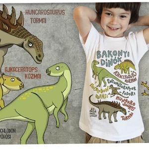 Bakonyi dínók gyerekpólón, Ruha & Divat, Babaruha & Gyerekruha, Póló, Mindenmás, BUSÓK\n\nMAGYAR GYEREKEKNEK MAGYAR DÍNÓKAT! Tyrannosaurus rex? Lerágott csont...NEM KELL AZ IMPORT ŐSL..., Meska