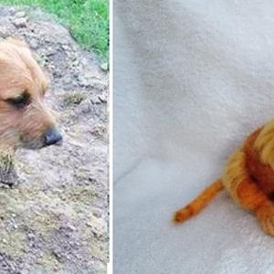 Kutya hasonmás - egyedi tűnemez tacskó szobor (Inkarno) - Meska.hu