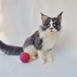 Macska hasonmás - egyedi tűnemez cica, main coon macska (Inkarno) - Meska.hu