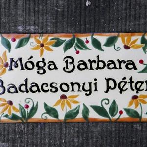 Egyedi tűzzománc névtábla - virágos (InnocentDesign) - Meska.hu