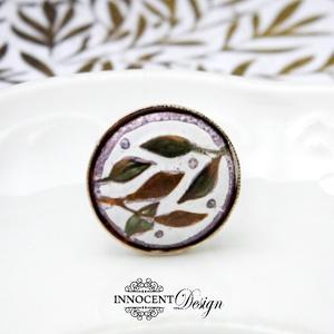 Bambusz - tűzzománc gyűrű (InnocentDesign) - Meska.hu