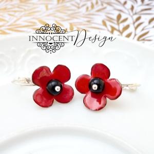 Poppy - tűzzománc fülbevaló (InnocentDesign) - Meska.hu