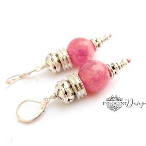 Kelet varázsa - ásvány fülbevaló (pink) (InnocentDesign) - Meska.hu