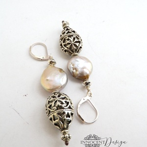 Kelet varázsa - ásvány fülbevaló (ezüst) (InnocentDesign) - Meska.hu