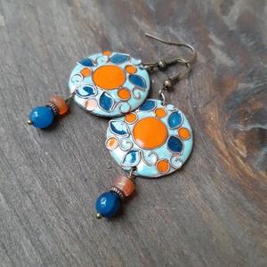 Narancsvidék - tűzzománc fülbevaló  (InnocentDesign) - Meska.hu