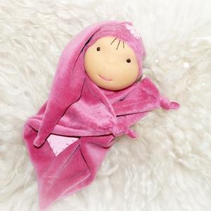 Alvómanó, Manó, Plüssállat & Játékfigura, Játék & Gyerek, Baba-és bábkészítés, Varrás, Alvómanó a legkisebbeknek.Újszülött kortól ajánlom ezt a kedves kis pihe puha manót.Sapkája rögzítet..., Meska