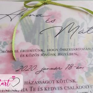 Zöld álom esküvői meghívó borítékkal (Invitart) - Meska.hu