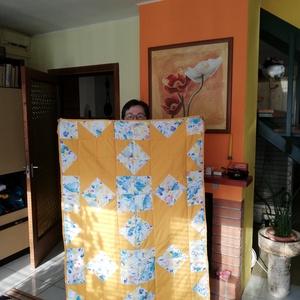 patchwork takaró, Otthon & Lakás, Lakástextil, Patchwork, foltvarrás, Varrás, Kézzel készült gyermektakaró 2 db,100x150 cm ,vatelinnal bélelt, patchwork technikával. Puha,könnyű,..., Meska