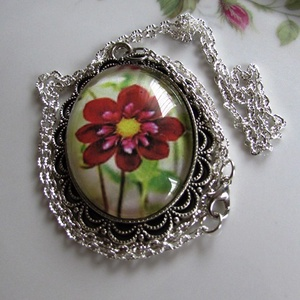 Vintage-szál virág- nyaklánc (irisz3) - Meska.hu