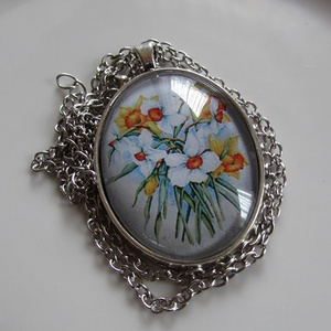 Vintage-virágos nyaklánc (irisz3) - Meska.hu