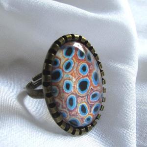 ÚJ KOLLEKCIÓ-vintage modern mintás gyűrű - Meska.hu