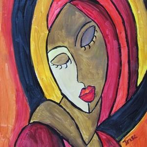 ABSZTRAKT -festmény , Képzőművészet, Otthon & lakás, Festmény, Dekoráció, Akril, Festészet, ABSZTRAKT festmény akrillal festve-fa lapon\nÉlénk színekkel megfestett dekoratív alkotás.\nMÉRETE:30x..., Meska