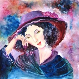 ÁLMODOZÓ- olajfestmény, Otthon & lakás, Képzőművészet, Festmény, Olajfestmény, Festészet, Technika:olaj-fa\nMéret:30x30cm\nIMPRESSZIONISTA stílusban festett kép.\nKERET NÉLKÜL ELADÓ!!!\nA képeke..., Meska