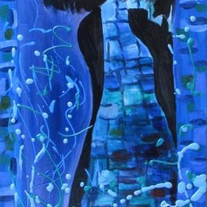 CORA-modern  olajfestmény, Otthon & lakás, Képzőművészet, Festmény, Olajfestmény, Festészet, Technika:olaj-fa lap\nMéret:20x42\nMODERN stílusban festett kép.\nKERET NÉLKÜL ELADÓ!!!\nA képeken a ker..., Meska