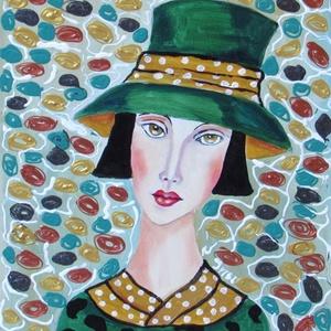 GEORGINA ZÖLDBEN-  modern olajfestmény, Otthon & lakás, Képzőművészet, Festmény, Olajfestmény, Festészet, Technika:olaj-fa lap\nMéret:30x25cm\nKERET NÉLKÜL ELADÓ!!!\nA képeken a keretek virtuálisak., Meska