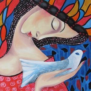 REPÜLJ GALAMB- ABSZTRAKT festmény, Képzőművészet, Otthon & lakás, Festmény, Olajfestmény, Festészet, Technika: olaj-fa lap\nMéret:42x31cm\nABSZTRAKT festmény.\nKERET NÉLKÜL ELADÓ!!!\nA képeken a keretek vi..., Meska