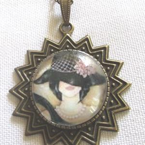 Vintage-üveglencsés nyaklánc ÚJ KOLLEKCIÓ - Meska.hu