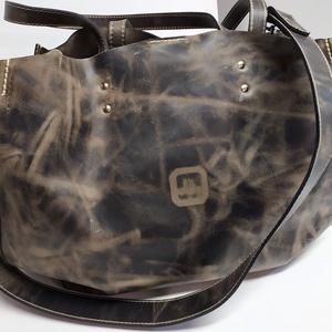 Mindentbele táska koptatott barna_1, Táska, Divat & Szépség, Táska, Szatyor, A táska nagyméretű. igazi bevásárló, kapkodó. Nincs bélelve, mágneszárral záródik: egyszerűen nagysz..., Meska