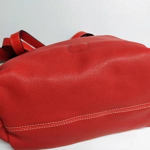 Bevásárló táska fáradt pirosban (itsevas) - Meska.hu