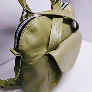 Háti/váll táska világos zöldből, Táska & Tok, Variálható táska, Bőrművesség, Meska