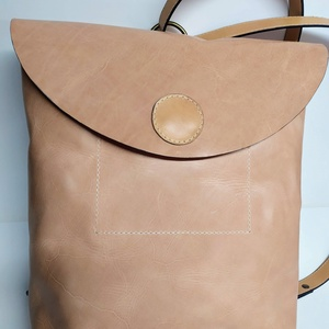 Tarisznya-hátizsák nyers színben, Táska, Divat & Szépség, Táska, Hátizsák, Férfi táska, Tarisznya, Ha akarom, tarisznya, ha akarom hátizsák. Nagyon kellemes kétfajta nyers bőrből készült, természetes..., Meska