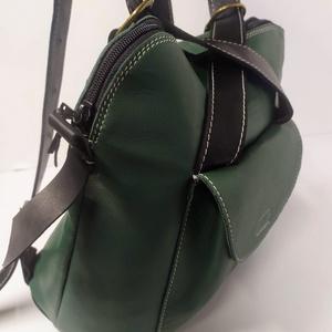 Háti/váll táska feketéből/zöldből, Táska & Tok, Hátizsák, Hátizsák, Bőrművesség, Meska