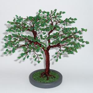 Majomkenyérfa gyöngyfa, Otthon & Lakás, Dekoráció, Dísztárgy, Gyöngyfűzés, gyöngyhímzés, A fa magassága 20 cm,szélessége 23 cm, 90 ággal és 4 mm-es  gyöngyökkel készült.\nA gyöngyök szivárvá..., Meska