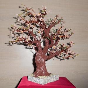 Virágzó barackfa gyönygfa, Otthon & Lakás, Dekoráció, Dísztárgy, Gyöngyfűzés, gyöngyhímzés, Meska